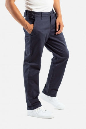 Regular Flex Chino Hose, gerader Schnitt, navy blau