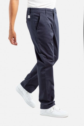 Regular Flex Chino Hose gerader Schnitt navy blau