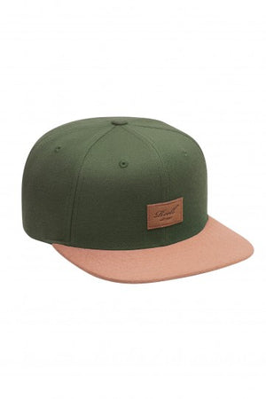 Reell Suede 6-Panel Cap, Farbe: darkolive