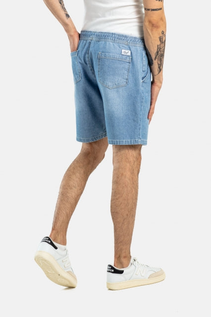 Easy Shorts aus Baumwolle, lightblue washed