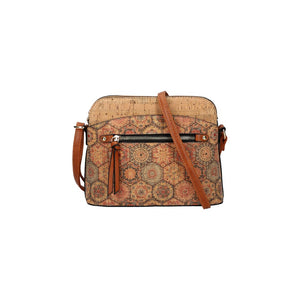 Kork-Optik-Tasche, Crossbody Bag (20cm)