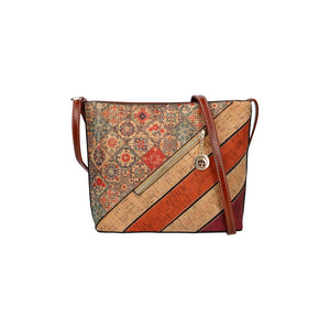 Kork-Optik Handtasche, Crossbody Bag (27 cm)