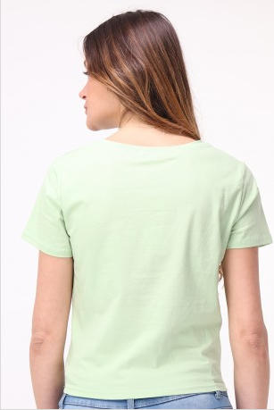 T-Shirt für Damen, Enjoy Summer, mint