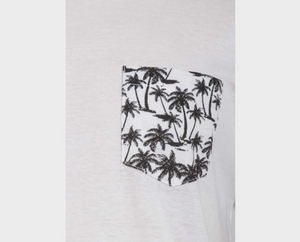 T-Shirt mit Pocket, kurzarm, Palm