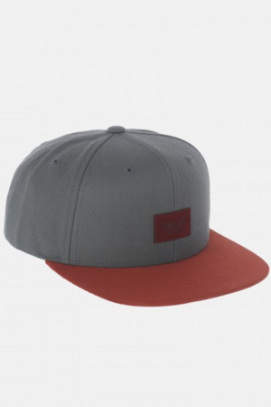 Reell Flat 6-Panel Cap, grey black