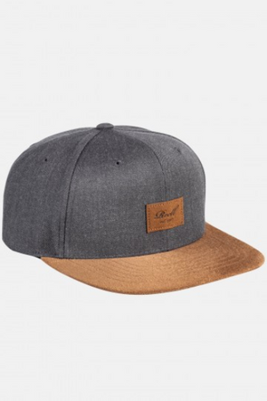 Reell Flat 6-Panel Cap, heather charcoal