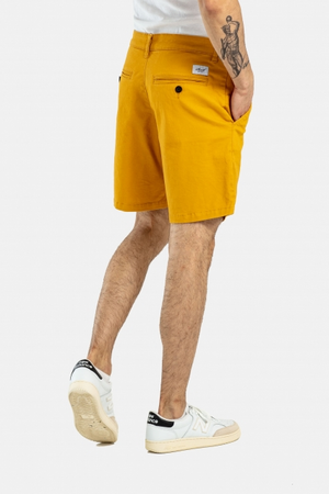 Flex Chino Shorts, Baumwolle, Mustard Yellow