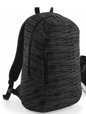 Rolltop, Duo Knit Backpack, grau & blau