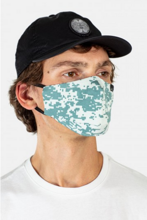 Gesichtsmaske, Scale Camo Sea Green