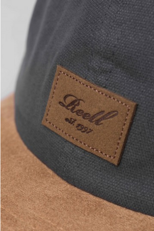 Reell Curved Suede Cap, Charcoal