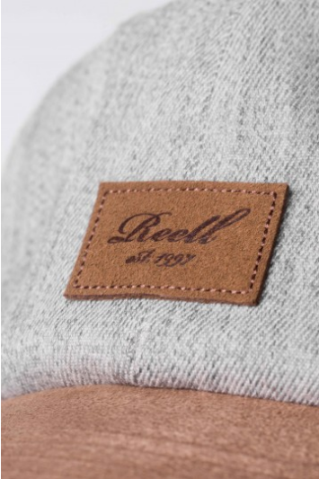 Reell Curved Suede Cap, Heather Light Grey