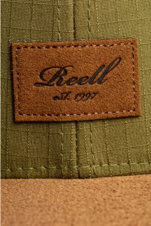 Reell Suede 6-Panel Cap, Military Olive