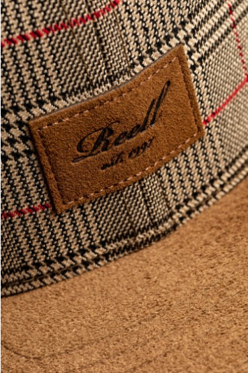 Reell Suede 6-Panel Cap, Sand Check