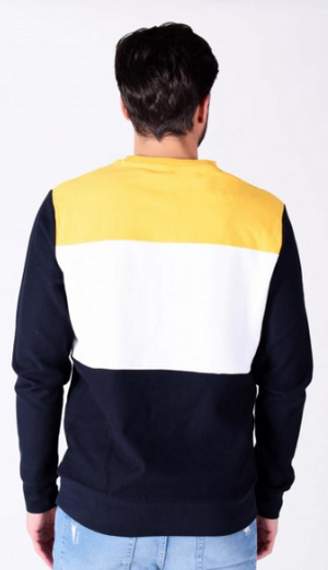 Crewneck Sweater für Herren, Colorblock