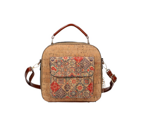 Kork-Optik Handtasche, Crossbody Bag