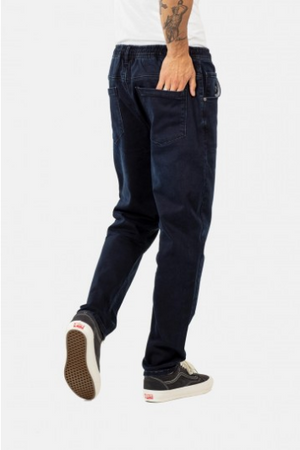 Jogger Jeans Pant Knitted Blue Black