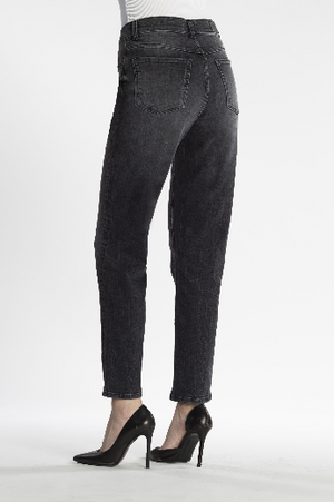 COJ Jeans, Lynn, Mom Jeans, coal black