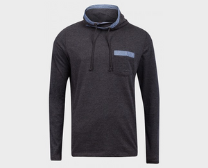 Long Sleeve für Herren, Funnel Neck