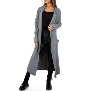 Langcardigan für Damen, Materialmix JCL Paris