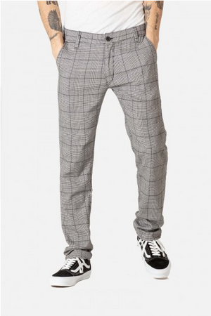 Flex Tapered Chino Hose check-grey-black