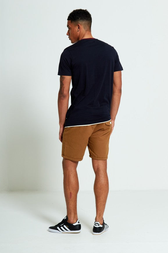 Shorts aus Baumwolle, Turn Up, braun