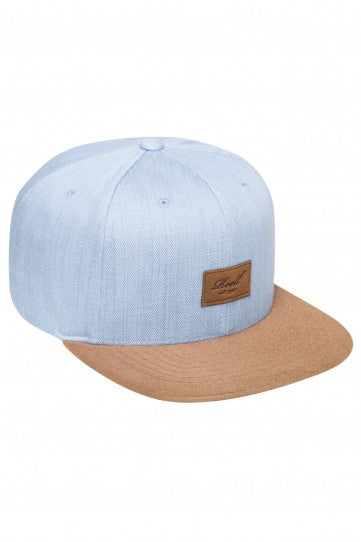 Reell Suede 6-Panel Cap, Farbe: light denim