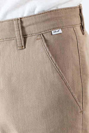 Superior Flex Chinohose, tapered fit, sand & dark blue