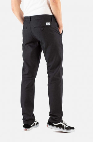 Superior Flex Chinohose, tapered fit, Black