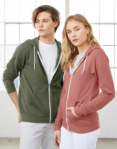 Kapuzensweatshirt mit YKK-Full Zip, unisex, Poly-Cotton Full Zip Hoodie