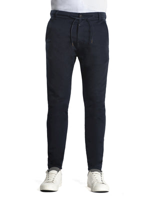 Chris, Chinojoggerhose, tapered Schnitt, navy