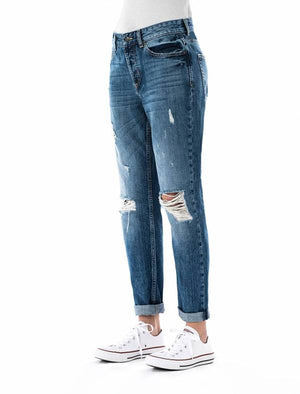 Jeans für Damen, Boy Friend, Modell: Alicia, Farbe: vintage blue