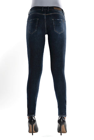 Jeans für Damen, Skinny Push Up, Modell: Gina, Farbe: Dark Blue