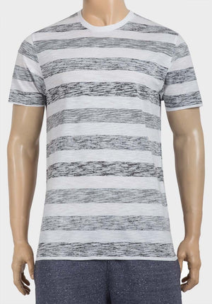 T-Shirt für Herren, Stripes, black/white