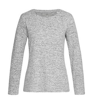 Knit Sweater Women_light grey melange