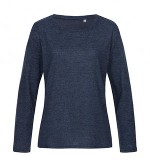 Knit Sweater Women_marina blue melange