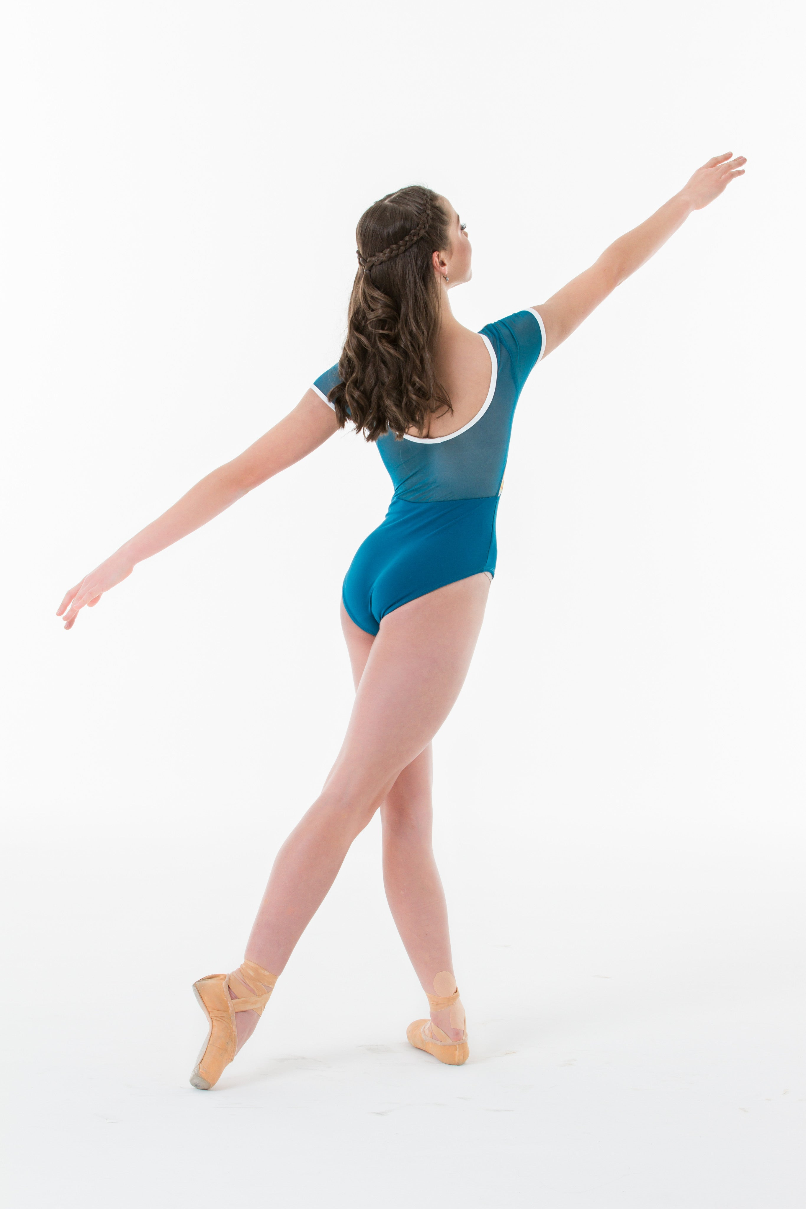 """Mary Grace"" Leotard w/ Bust lace overlay"