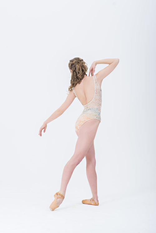 """Hana"" w/Lace Overylay Leotard"