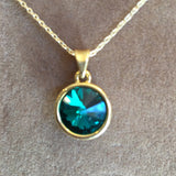 Swarovski Crystal Necklace (Gold, S4055N)