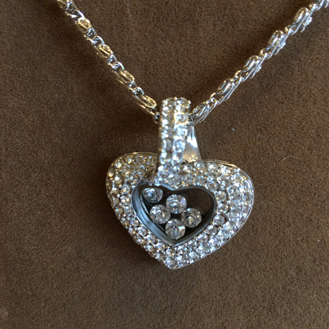 "Swarovski Crystal ""Chopard"" style Heart Necklace (S1692N)"