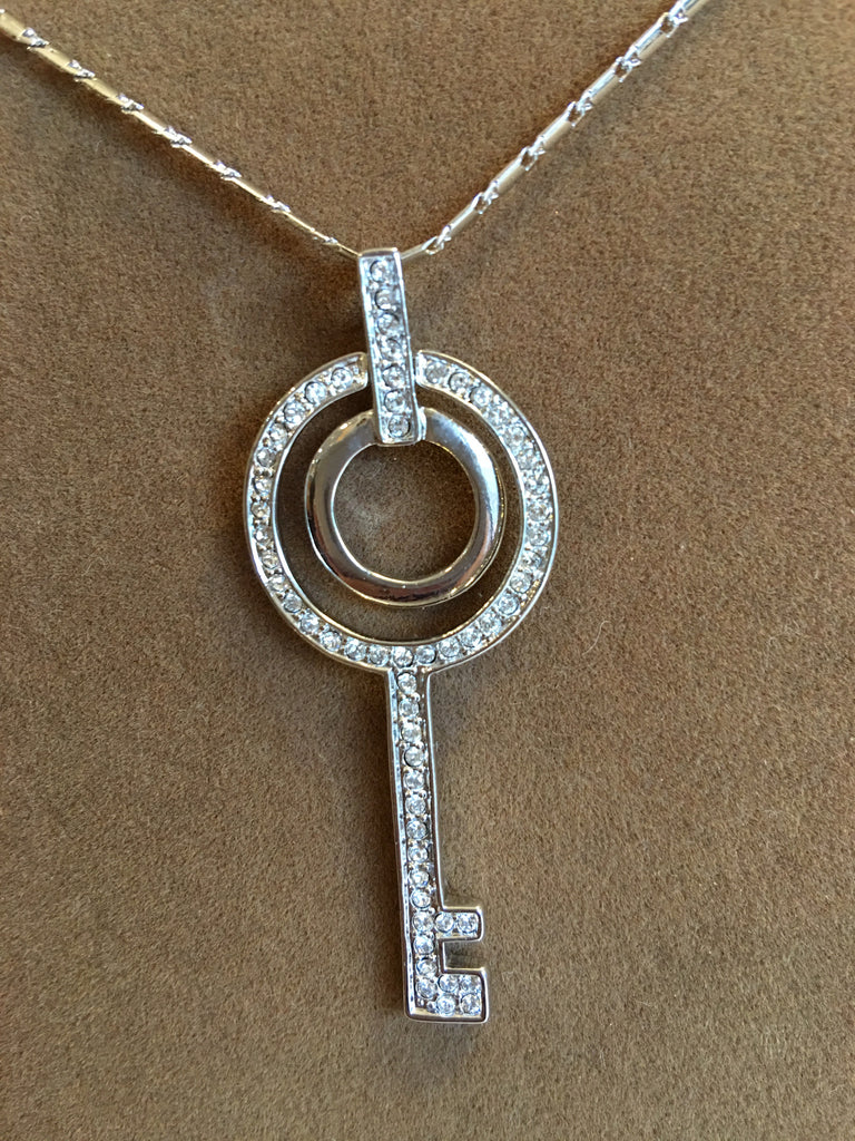 Swarovski Crystal Key Necklace (S2406N)
