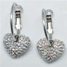Swarovski Crystal Heart Earrings (E0129)