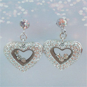 Swarovski Crystal Heart Earrings (E1692) [WS]