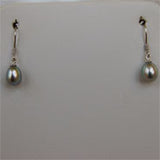 Sterling Silver Single Pearl Drop Earrings (5 Colors to choose)