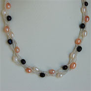 Magnetic Clasp 3 Strands Pearl Necklace (9 Colors to choose)