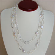 Coin Pearl Station Necklace (3 Colors to choose)