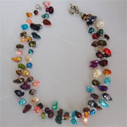Double Strand Baroque Pearl Necklace (5 Colors to choose)
