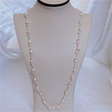 "31"" Pearl & Crystals Necklace (5 Colors to choose)"