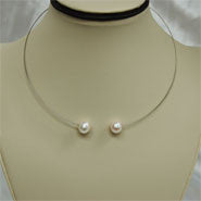 2-Pearl Necklace (2 Colors to choose)