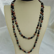 "46"" Baroque Pearl Necklace (3 Colors to choose)"