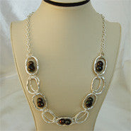 Baroque Pearl Station Necklace (3 Colors to choose)